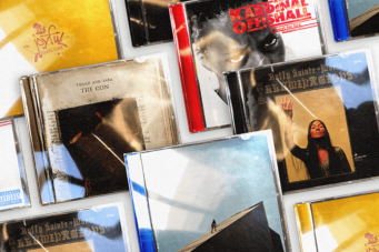 A photo of CD albums by Daniel Caesar, Buffy Sainte-Marie and Kardinal Offishal that will compete on the CBC show Canada Listens