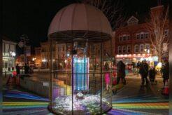 A photo of art exhibition, Beacon Silo, along Queen Street