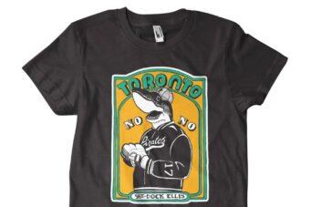 A limited-edition Merch Tent shirt for Toronto bar Dock Ellis.