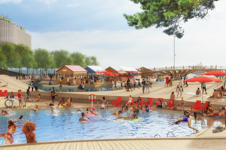 Toronto waterfront reveals plans for a new pool, park and restaurants