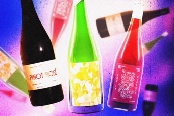 A graphic image of three Ontario beer-wine hybrids