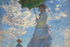 The Monet painting Woman with a Parasol – Madame Monet and Her Son