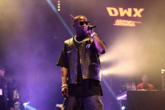 A photo of DMX performing at the Twenty Four Festival in 2014