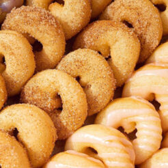 A photo of mini-donuts from COPS Doughnuts