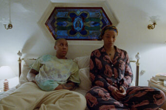 Lena Waithe and Naomi Ackie on a bed in season 3 of Master of None
