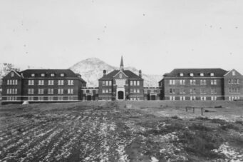 An undated photo of the Kamloops Indian Residential School.