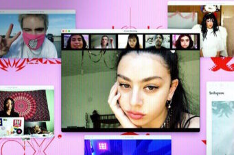 A still from the Charli XCX documentary Alone Together