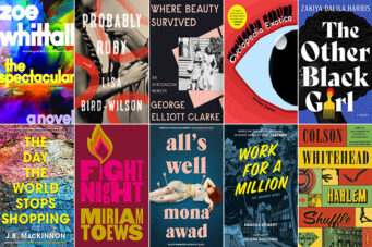 Eight book covers