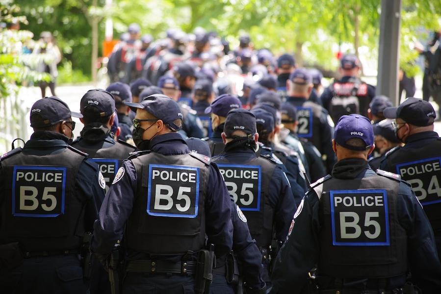 Toronto police at trinity-bellwoods