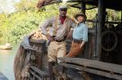 A still of Dwayne Johnson and Emily Blunt in Disney's Jungle Cruise.