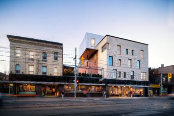 An exterior look at the Drake Hotel's new expansion