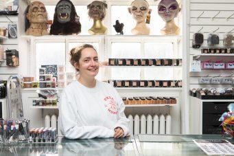 Malabar's retail manager Hollis Wilson in the makeup department