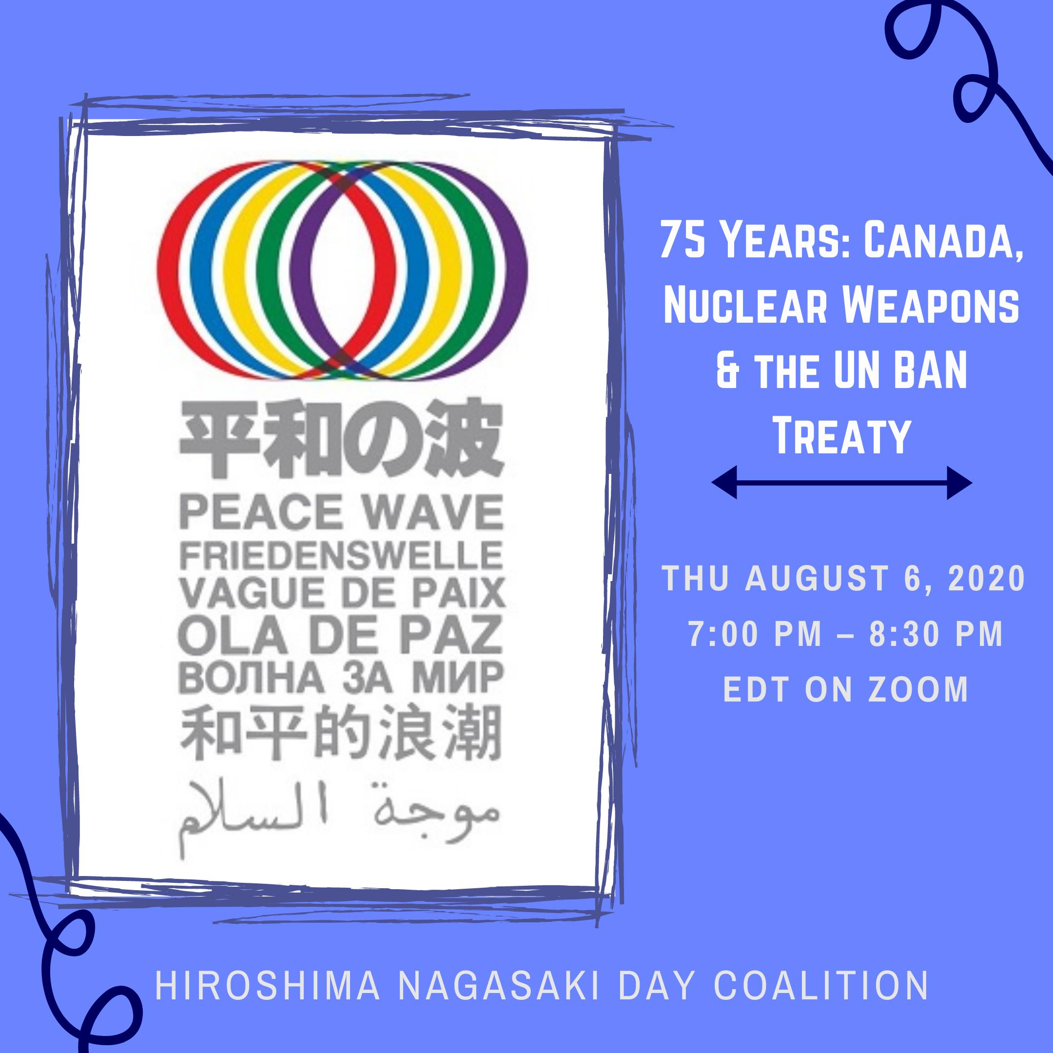 Toronto's Hiroshima/ Nagasaki Day Coalition
